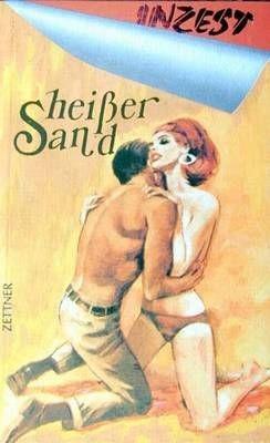 Heißer Sand auf nackter Haut